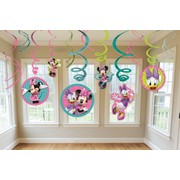Minnie Mouse Party Hanging Swirl Decorations Pk 12