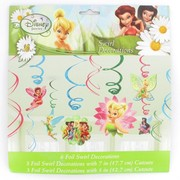 Tinkerbell Hanging Swirl Decorations Pk 12