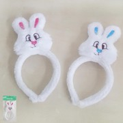 Assorted Colour Plush Bunny on Headband (1 HEADBAND WITH BUNNY ONLY)