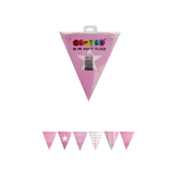 Pink Party Flags Pk 50