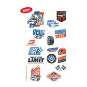 Supercars V8 Tattoos (1 Sheet of 8 Tattoo Squares)