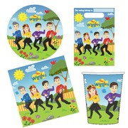 The Wiggles Party Pack for 8 Pk 40 (8 Cups, 8 Plates, 8 Loot Bags & 16 Napkins)