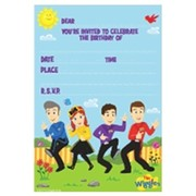 The Wiggles Invitations & Envelopes Pk 8