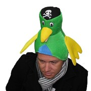 Adult Pirate Parrot Soft Novelty Hat Pk 1