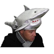 Adult Great White Shark Soft Novelty Hat Pk 1