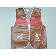 Adult Brown Vinyl Cowboy Vest (Medium) Pk 1