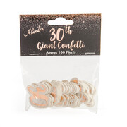 Large Rose Gold 30 Confetti Scatters (14g - Approx. 100 Pieces)