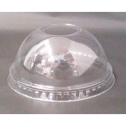 Small Clear Plastic Dome Lids for 10oz./300ml Clear Plastic Cups Pk 50