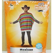 Adult Mexican Costume Poncho Pk 1