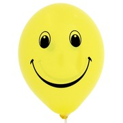 Balloons Latex 2 Sided Smile Pk10