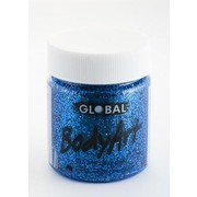 Blue Glitter Face and Body Paint Jar (45ml) Pk 1