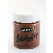 Brown Face and Body Paint Jar (45ml) Pk 1