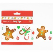 Gingerbread Christmas Party Tape 6m Pk1