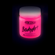 Fluoro Pink Face and Body Paint Jar (45ml) Pk 1