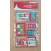 Assorted Christmas Layered Bright Stickers Pk 7