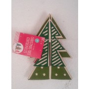 Assorted Design Cardboard Christmas Tree Centrepiece Decorations Pk 3