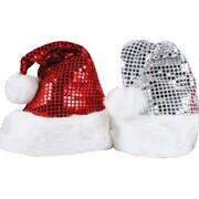 Christmas Assorted Red / Silver Santa Hat Pk 2