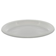 White Plastic Oval Plates (7x9in) Pk 500