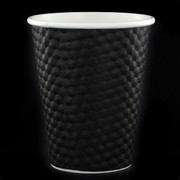 Black Dimple Hot Drink Cups 8oz (237mL) Pk 25