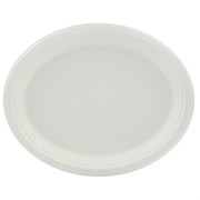 White Oval Paper Plates - Large Pk25