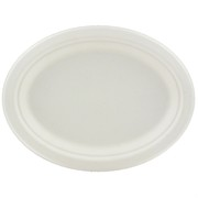 White Oval Paper Plates - Medium Pk50