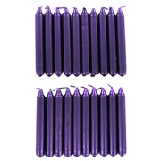 Candles Wish Metallic Purple Pk20