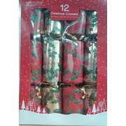 Christmas Traditional Foliage Holly Red & Gold Bon Bons (12in.) Pk 12