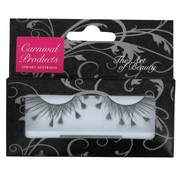 Black Feathertip Eyelashes With Glue (1 Pair)