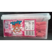 Sour Strawberry Straps Pk Approx. 200 (1.4kg in Total)