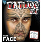 Full Face Maori Tribal FX Tattoo Pk 1