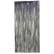 Curtain Tinsel Foil 90 x 200cm Black Pk1
