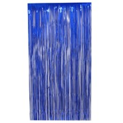 Curtain Tinsel Foil 90 x 200cm Blue Pk1