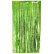 Curtain Tinsel Foil 90 x 200cm Lime Pk1