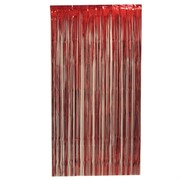 Curtain Tinsel Foil 90 x 200cm Red Pk1