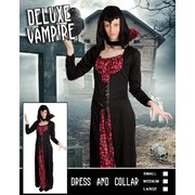 Adult Halloween Deluxe Vampire Lady Costume (Medium) Pk 1