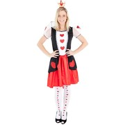 Adult Heart Queen Costume (Medium, 12-14) Pk 1