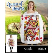 Adult Queen of Hearts Card Costume (One Size) Pk 1