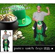 Adult Carry Me Leprechaun St. Patrick's Day Costume (One Size) Pk 1