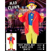 Adult Mad Clown Costume (Large) Pk 1