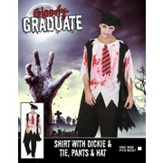 Adult Halloween Bloody Graduate Costume (One Size) Pk 1