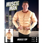 Adult 3D Muscle Man Costume (Large) Pk 1