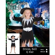 Child Halloween Spider Witch Costume (Medium, 6-8 Years) Pk 1