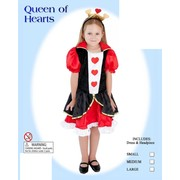 Child Queen of Hearts Costume (Small, 4-6 Years) Pk 1