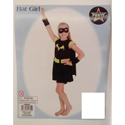 Child Bat Girl Costume (Medium, 6-8 Years) Pk 1