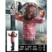 Child Halloween Wolf Boy Costume (Medium, 6-8 Years) Pk 1