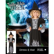 Toddler Halloween Witch Costume (One Size) Pk 1