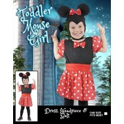 Toddler Mouse Girl Costume (One Size) Pk 1