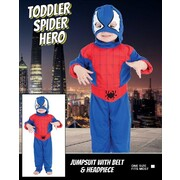 Toddler Spider Hero Costume (One Size) Pk 1