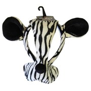 Zebra Mask with Ears on Headband Pk 1