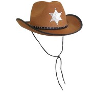 Brown Sheriff Cowboy Hat Pk 1